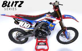 motocross bike honda semi custom dirt bike graphics