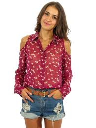 shoulder cut out blouse pre owned equipment floral shoulder cut out blouse sabrina s closet