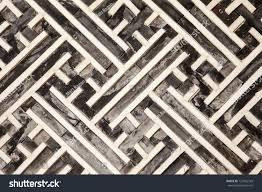 geometric pattern made wood slats one stock photo 127462343