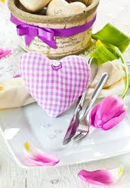 Romantic Table Settings Beautiful Fresh Romantic Table Setting With A Checked Pink Fabric