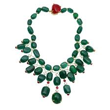 ruby bead necklace images Magnificent indian maharajah style emerald ruby bead necklace at jpeg