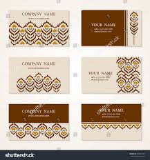 Business Invitation Cards Set Six Business Cards Hand Drawn Stock Vector 478227325