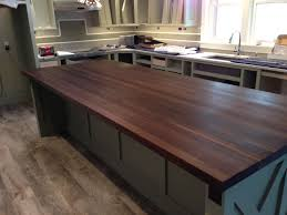 kitchen butcher block island custom made walnut butcher block island top by mccluretables