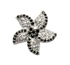 flower stud earrings reith black clear flower stud earrings cubic zirconia hematite