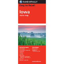 Iowa State Map Rand Mcnally Easy To Read State Folded Map Iowa