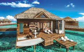awesome footage of the first overwater villas in the caribbean