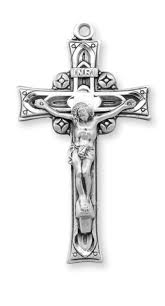 rosary crucifix ornate sterling silver crucifix rosary parts by hmh religious