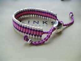 friendship bracelet links images Trap cut links of london friendship bracelet purple pink 26 00 jpg