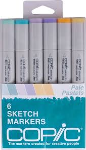 copic markers 6 piece sketch set pale pastels import it all