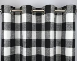 50 X 96 Curtains Check Curtains Etsy