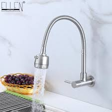 wall faucet kitchen wall mounted single cold kitchen faucet kitchen sink tap stainless