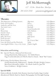 modern resume exle styles child actor resume template free theatre resume template