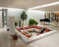 classy living room with green plants for fresh look get a fresh