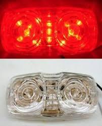 red led marker lights grote clear lens red led bullseye 2x4 truck trailer enclosed