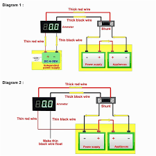 how to wire a led digital volt amp meter with shunt best