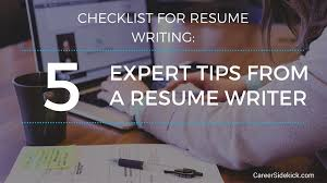 resume writing checklist 5 steps to get your resume ready for