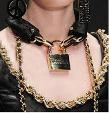 lock necklace punk images Women 2015 fashion accessories gold letter bib choker pu chain jpg