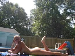 back yard tanning