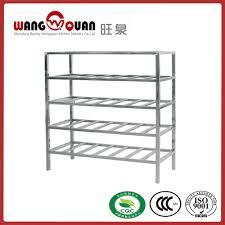 china supermarket rack tube 5 tier stainless steel slatted shelf