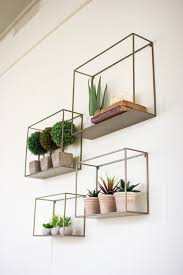 Box Shelves Wall by Set Of 4 Metal Shelves Http Www Theindustriouscompany Com