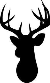 deer head deer silhouette art deer head silhouette gold paper and silhouettes