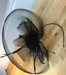funeral hat black funeral hat saks fifth ave vintage fascinator millinery