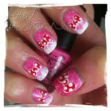thatleanne minnie mouse bow nail art