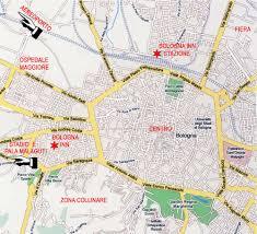 map of bologna bologna map center mapsof net
