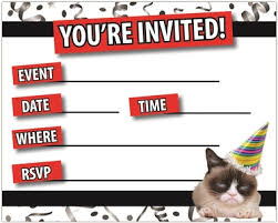 grumpy cat wrapping paper grumpy cat party invitations grumpy cat party supplies