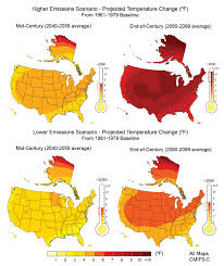 United States Climate Map by Future Of Climate Change Climate Change Science Us Epa