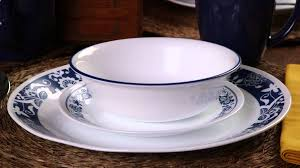 Dining Room Plate Sets by Corelle True Blue 16 Piece Dinnerware Set Youtube