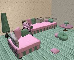 second life marketplace daybed living room suite pink and green