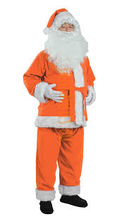 santa claus suit orange santa suit jacket trousers and hat santa suits