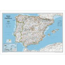 Spain Map Spain And Portugal Political Map National Geographic Store