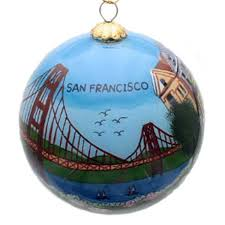 francisco icons painted glass ornament