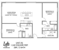Loft Apartment Floor Plan Lofts On College Apartment Floor Plans