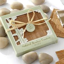eco friendly wedding favors eco friendly bamboo coaster favors