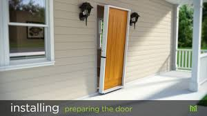 How To Install A Prehung Front Door How To Install Masonite Entry Doors Youtube