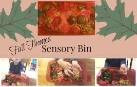 fall themed sensory bin dollar tree activity preschool