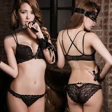 beautiful sexy hot japanese beautiful back sweet girls push up bra set sexy lace
