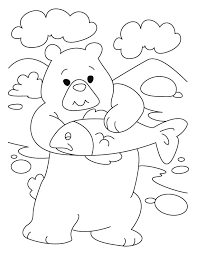 bear introspects dear pisces coloring pages download free bear