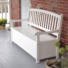 White Bench With Storage Coral Coast Pleasant Bay 4 Ft Curved Back Outdoor Wood 40 Gallon