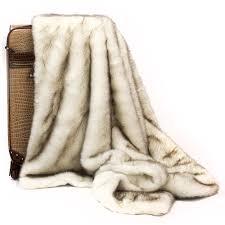 Fox Fur Blanket Posh Pelts Arctic Fox Throw U2013 Cocoa Tipped