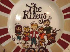 painted platters personalized personalized painted family plate with pets by lilbitofpaint