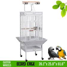 yaheetech wrought iron select bird cage parrot macaw cockatoo