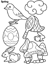 spring coloring page for kids spring coloring pages of