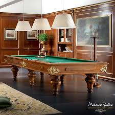 games room with handmade upholsteries and furniture and billiard
