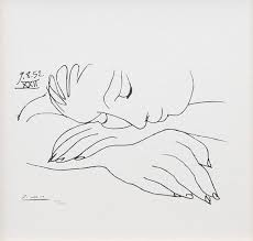 pablo picasso sleeping woman lithograph