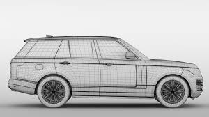 range rover sport drawing range rover sentinel l405 2018 3d model cgtrader