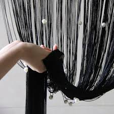 Decor Beaded Window Curtains Beaded by 100 200cm Beads Lace Curtains Drapes Tulle Home Office Window